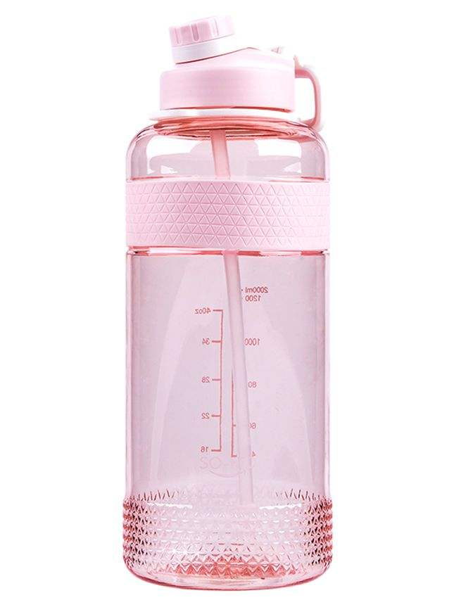 2000ml leisure style transparent plastic water bottle sporty bottle