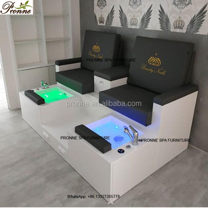 custom made spa equipment whirlpool footbath sofa pedicure spa station