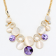 Women Pearl Crystal necklace wholesale