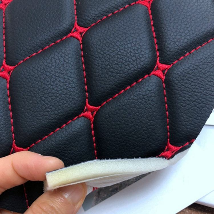 package by rolls different design diamond stitch fabric and leather