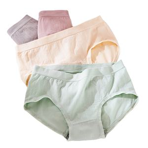 four-piece one box comfortable trimming mid rise seamless ladies lingerie underwear women panties with Gift Box