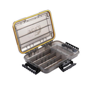 RUNCL Waterproof Seal Tackle Box Secure-Locking Latches Fishing Lure Tackle Box with Removable Dividers