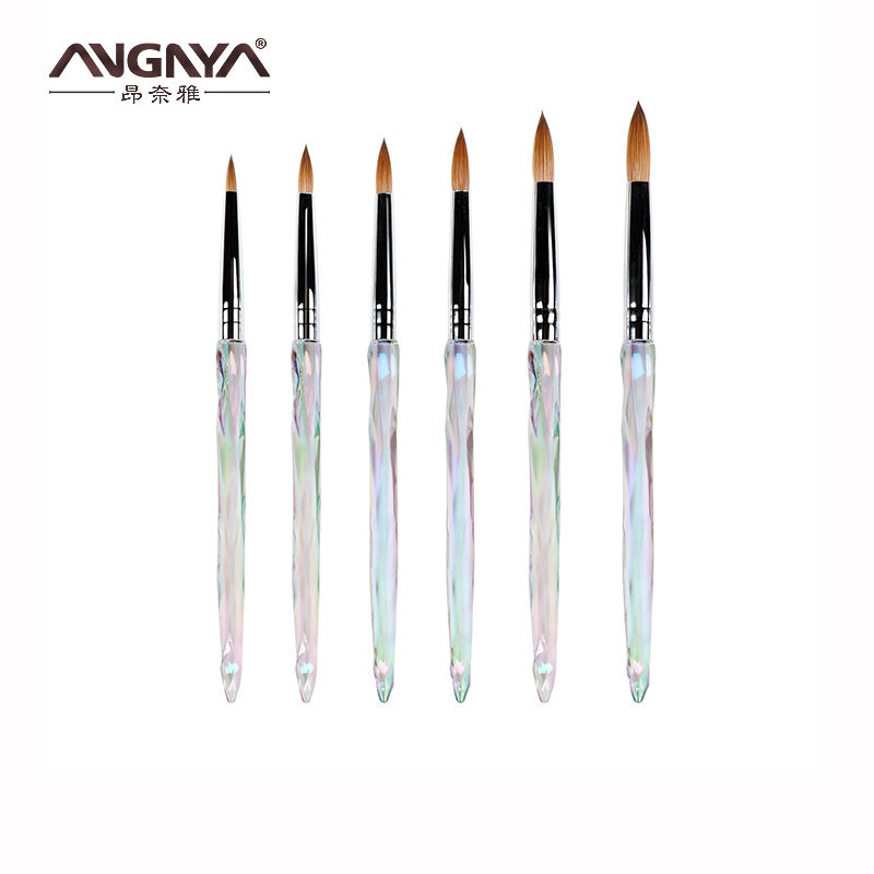 ANGNYA Acrylic Handle Pure Kolinsky Acrylic Nail Brush For Hot Sale
