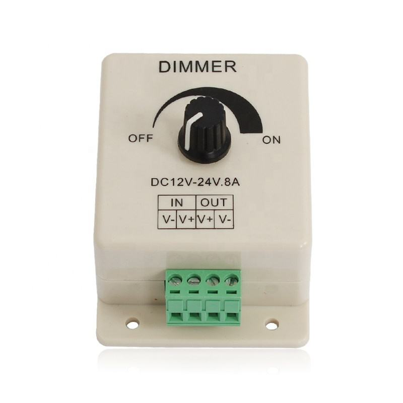 Factory sale DC 12V- 24V 8A white LED Dimmer
