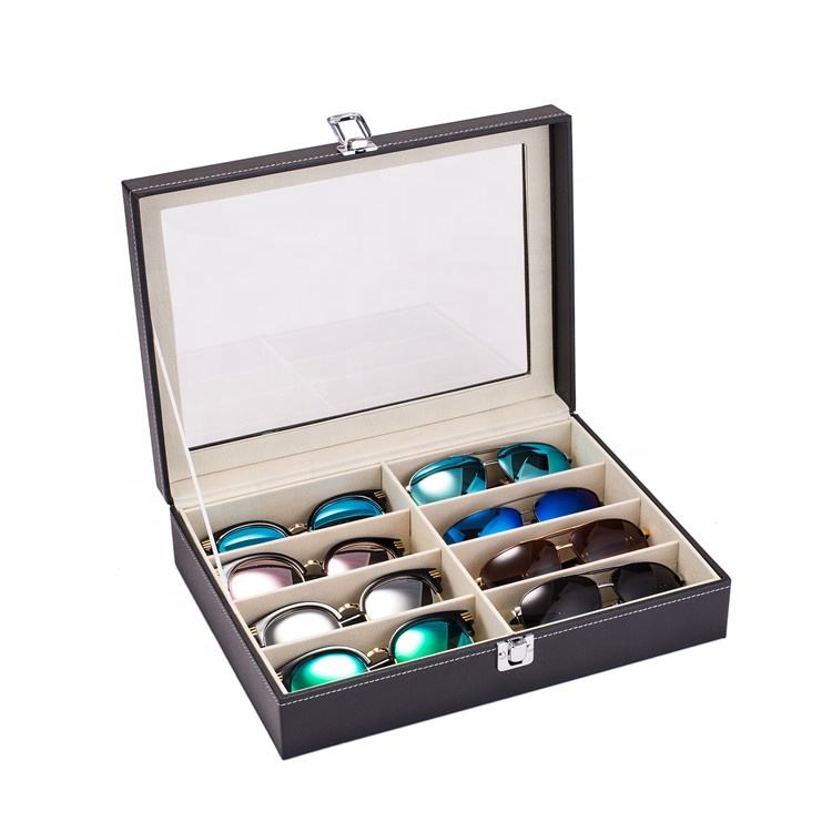 8 Grid Eye Glasses Case Eyewear Sunglasses Display Storage Box Holder Organizer