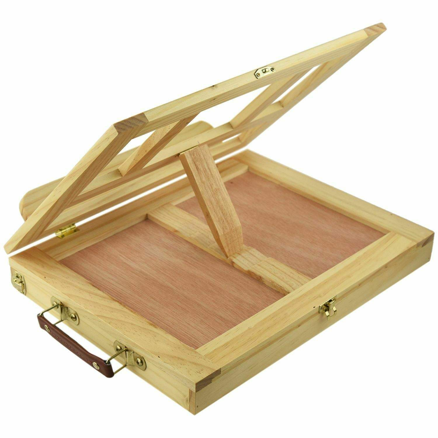 Travel Folding Table Wood Easel with Compartments For Artist Painting Sketching