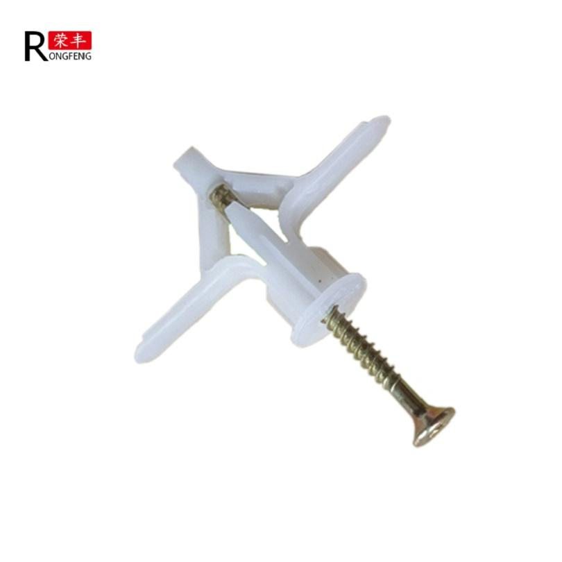 Wall Anchor Plastic Nylon Material Wing Wall Anchor / Butterfly Anchors