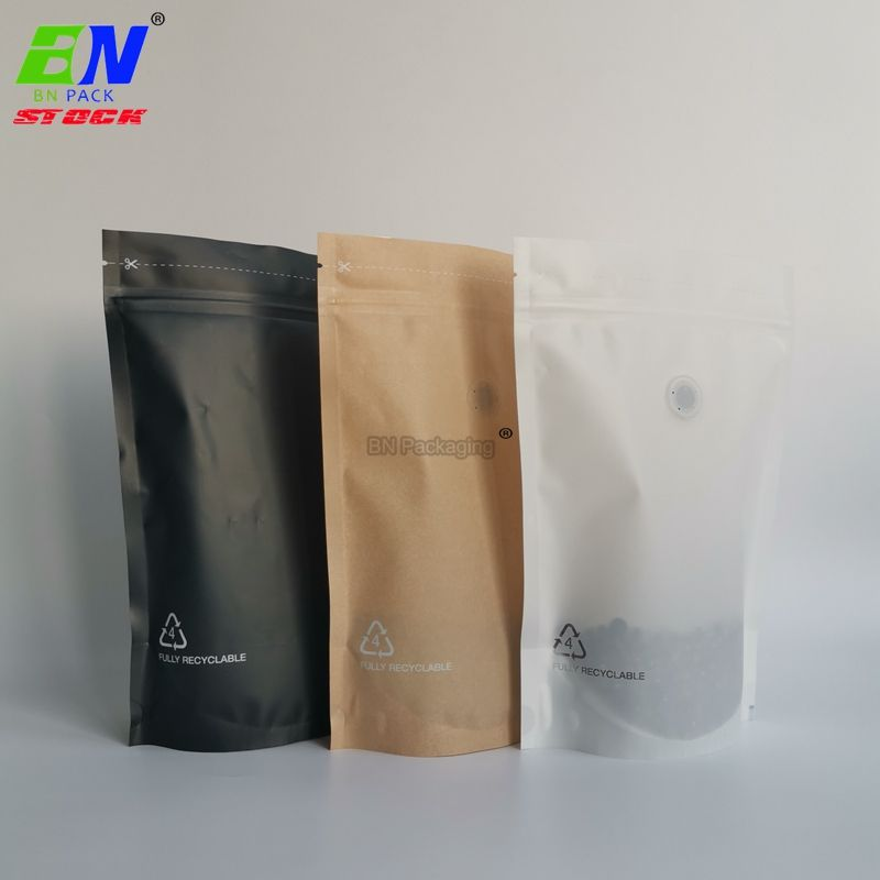 Recycled zipper plastic bag eco friendly packaging bag food for spice