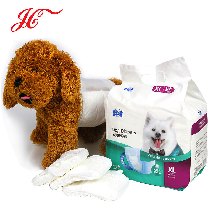 Free sample hot selling pet products disposable dog diaper for male dog