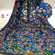 New fashion colorful sequins stage show dress sequins tulle lace