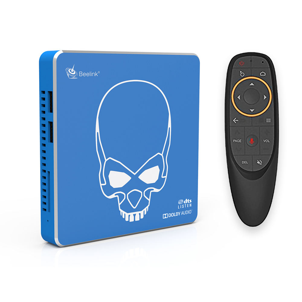 Beelink GT-King Pro Android 9.0 TV Box con Amlogic S922X-H Sei Core 4gb + 64gb dual wifi di voce di sostegno a distanza settopbox gt re