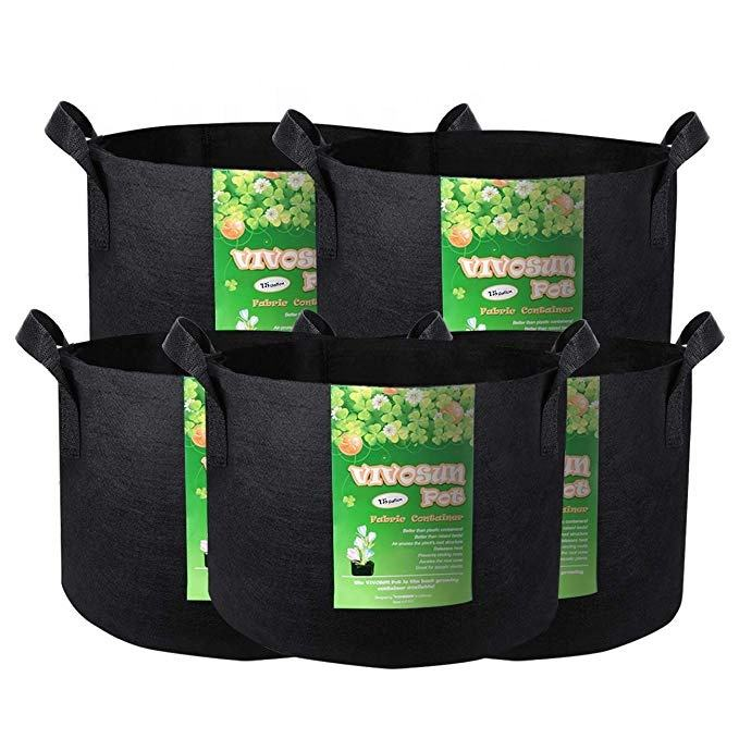 Free Samples 5 Pack 5 7 10 15 25 30 100 Gallon Felt Grow Bags 300G Thickened Fabric Pots with Handles