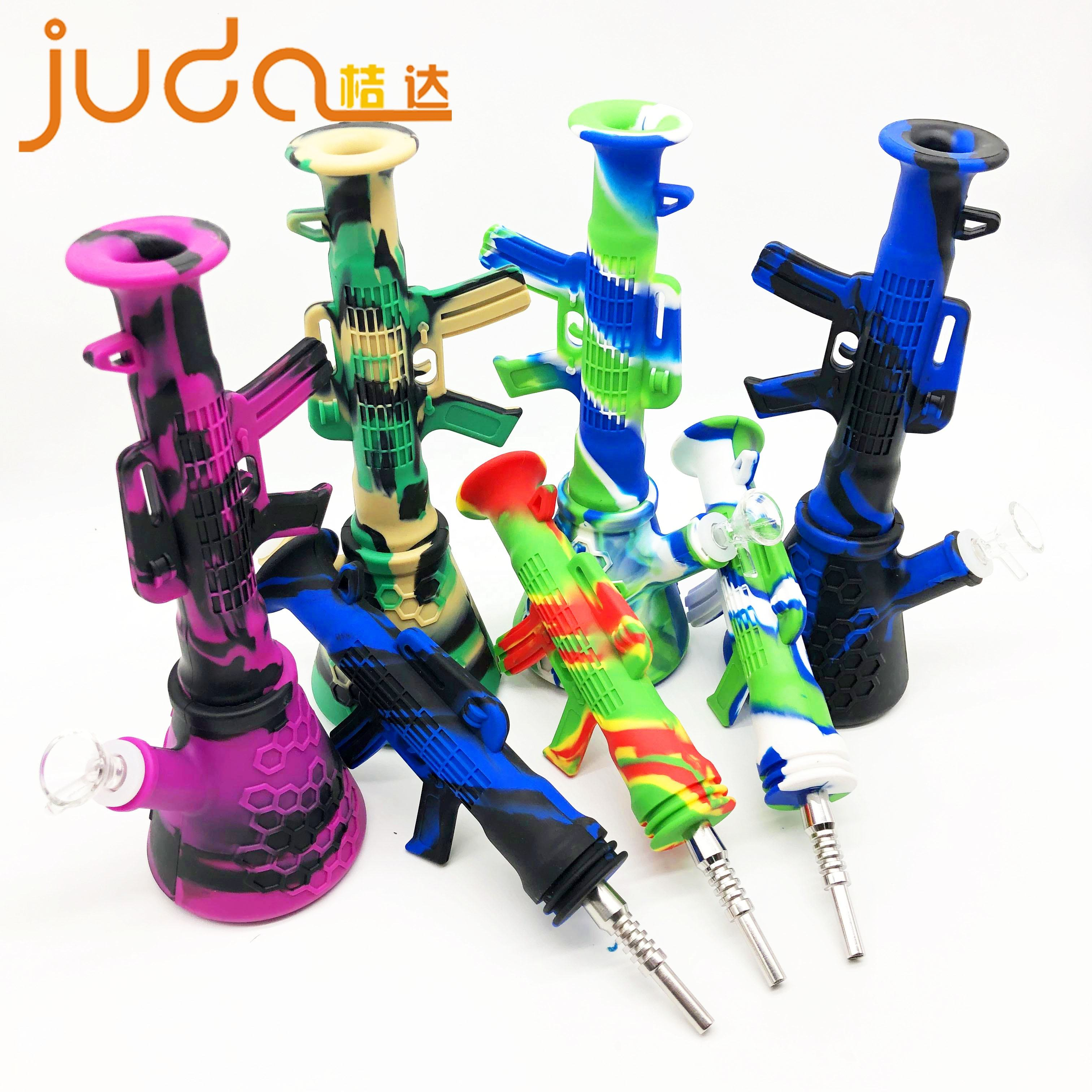 Factory directsale new design colorful smoke accessories silicone pipe smoking water pipe