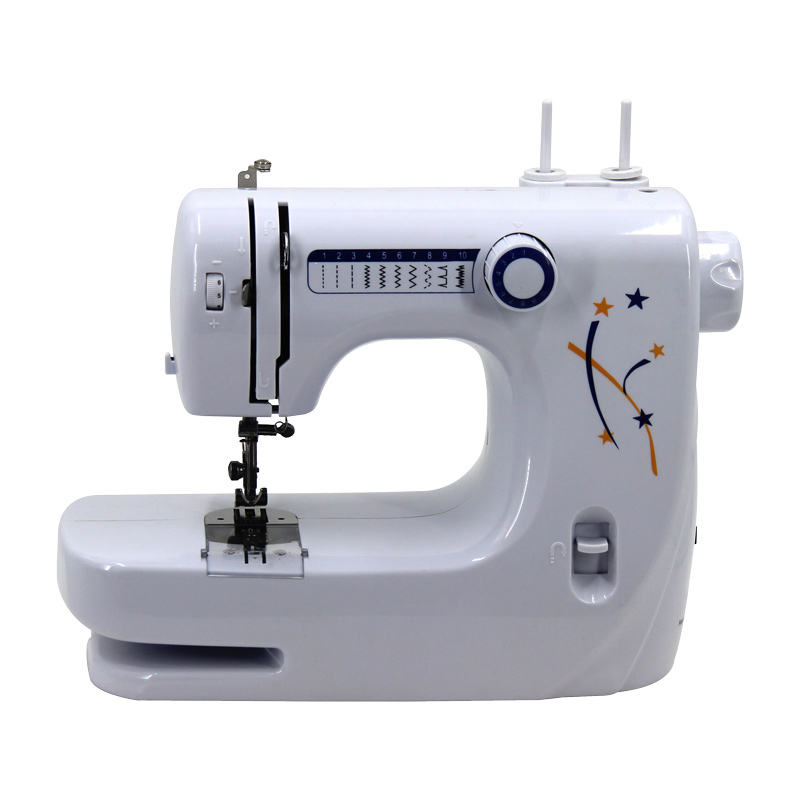 Online shop china household woven patches embroidery mini sewing machines for clothes domestic