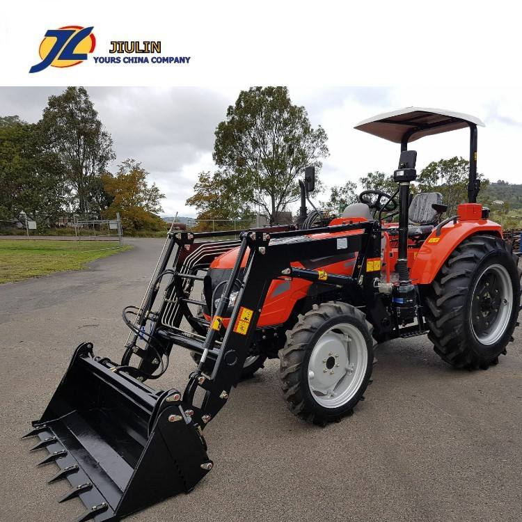 Hot sale Top quality 50hp FL504 4WD farm Tractor with Rops, front end loader made in china by jiulin