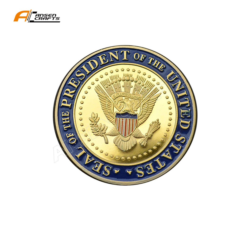 Factory Make Support to New President President Joe Biden Inauguration 2020 Colored Challenge Coin in Protective Case Included