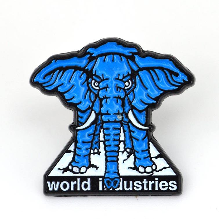 China factory professional custom logo anime elephant shaped copper enamel pin