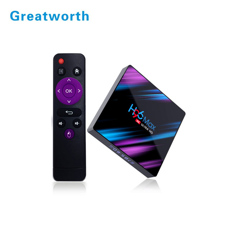 H96 Max Plus 4gb 32gb Android Tv Box 9,0 Smart TVBox RK3318 2,4G/5 Ghz Wifi HDR 4K H.265 H96MAX reproductor multimedia Set Top Box