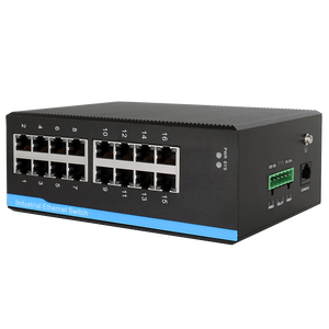 16 Port 10/100/1000M Jaringan Switch IP40 Gigabit Berhasil Industri Ethernet Switch