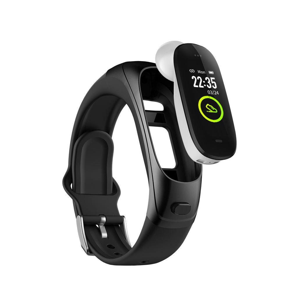 OEM sıkılaştırma bandı 2 in 1 akıllı saat smartwatch bluetooth izle uluslararası akıllı saat kulaklık