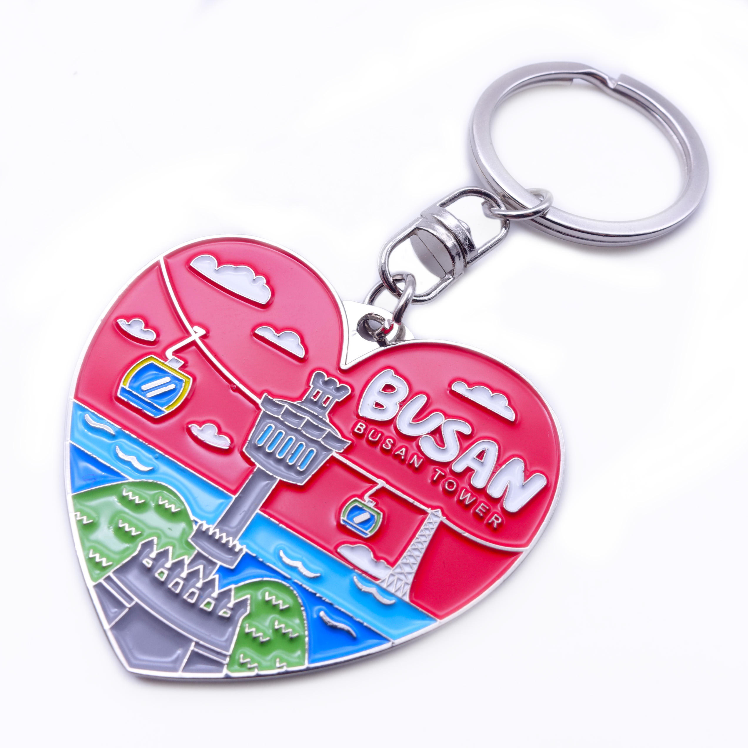 Personalized Creative Kirsite Zinc Alloy Iron Souvenir Metal Soft Hard Enamel Keychain Keyring Custom