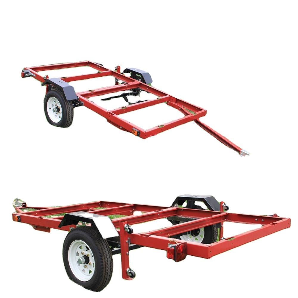 Economic 4 x 8 5x8 powder coated Folding utility Trailer frame