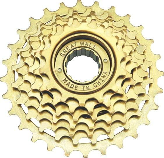 MTB index 7 speed freewheel bicycle double freewhee bicycle freewheel crank