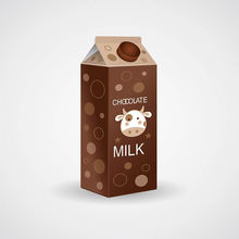 Custom milk box with lid