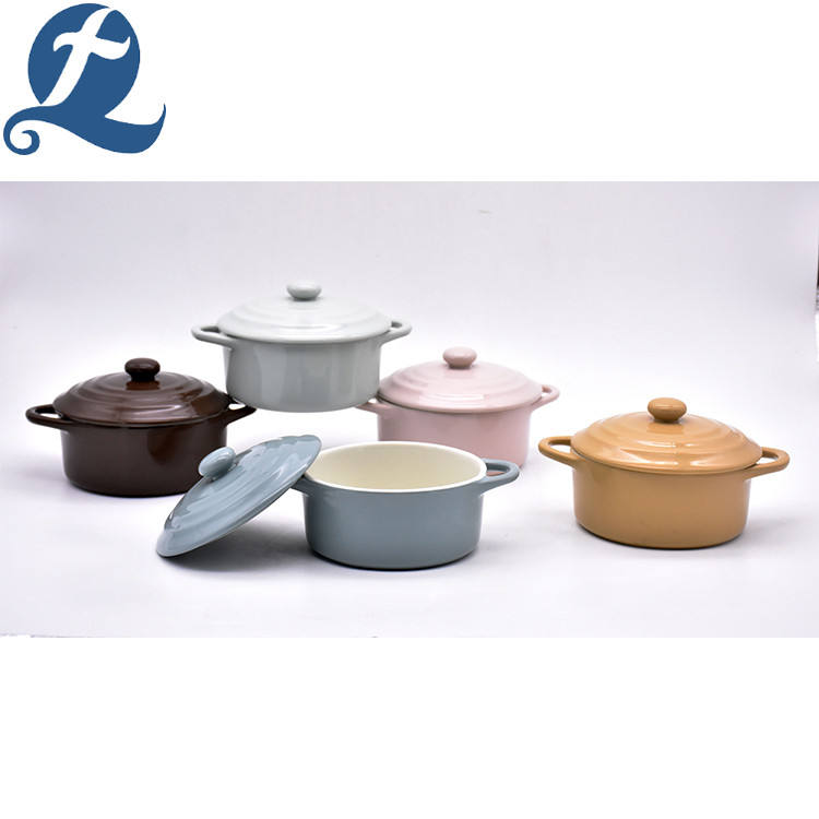 Wholesales custom logo fashion design cooking ceramic soup pot