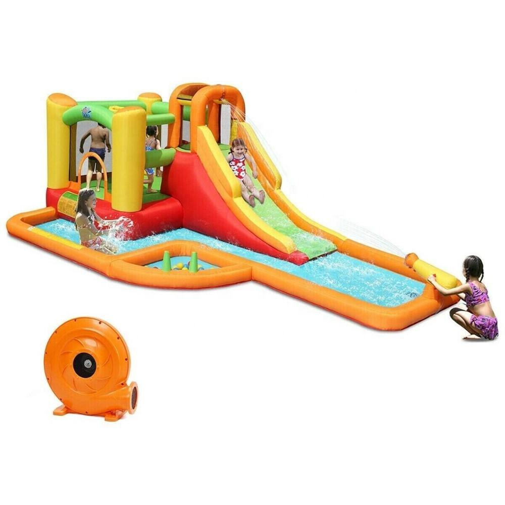 Multi-function inflatable SLIDER bounce pool ball house water shooting