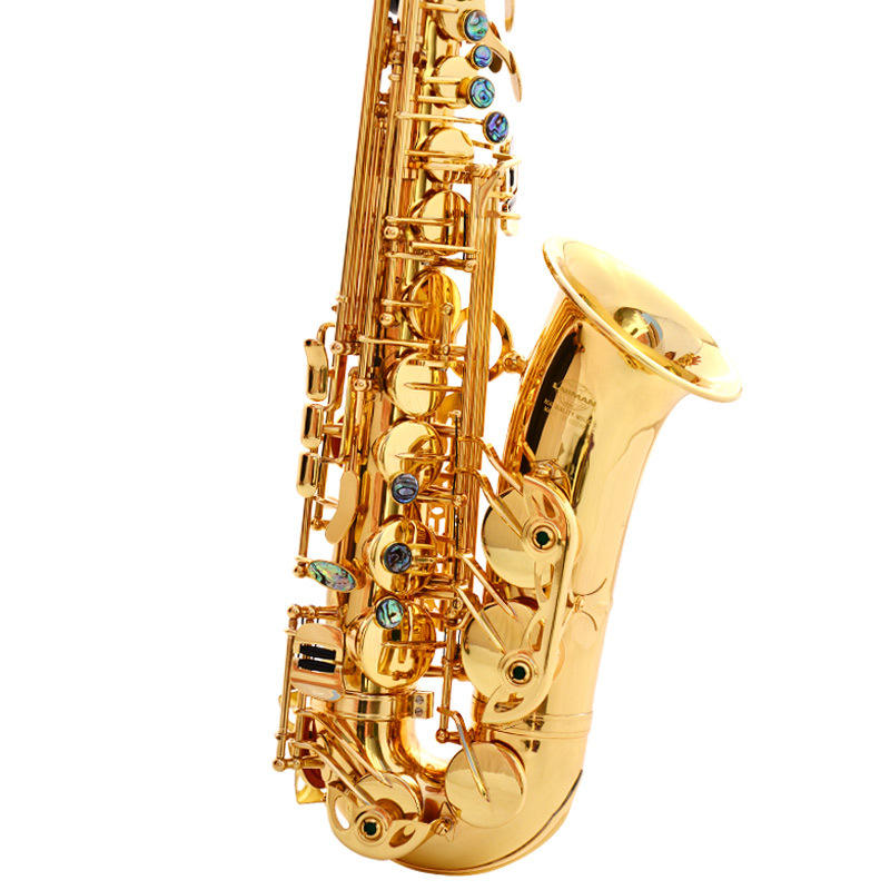 Gold Lack Messing Alto Eb Instrument Zubehör Professionelle China Sax <span class=keywords><strong>Saxophon</strong></span> Alto