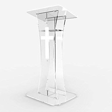 Clear Acrylic Podium, Pulpit for Churches, Weddings, Lecture Halls