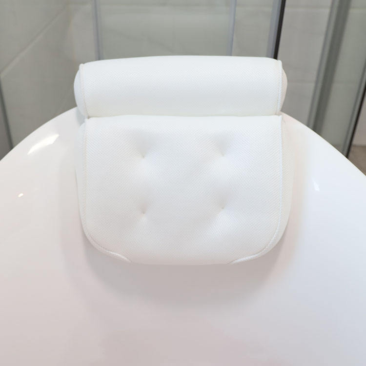 custom 100% polyester 3d spacer air mesh spa massage bathtub bath pillow