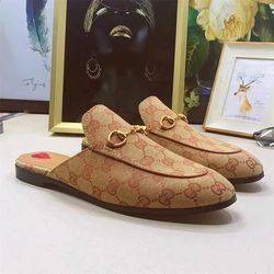 Top Selling Luxury mule leather fur slipper cheap loafer sho