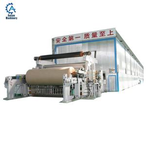 Paper factory waste paper recycling machine 1092mm Kraft Paper Machine export India