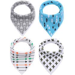 Maternal and child supplies baby triangle scarf cotton fleece baby saliva towel bib bib