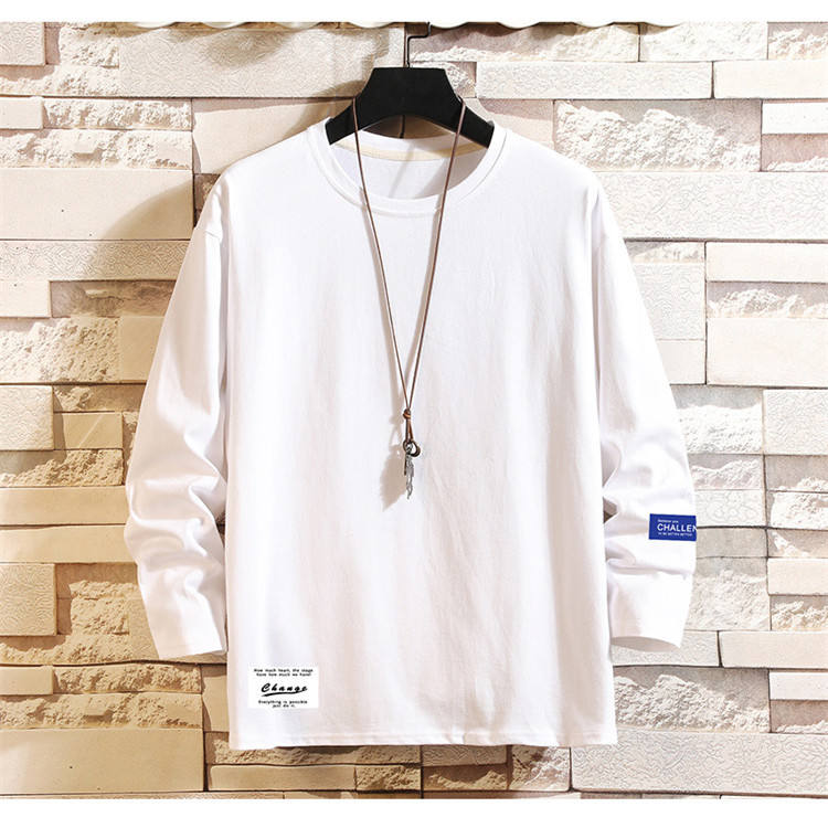 hotsale least design fashion long sleeve 100% cotton round neck autumn winter mens shirt