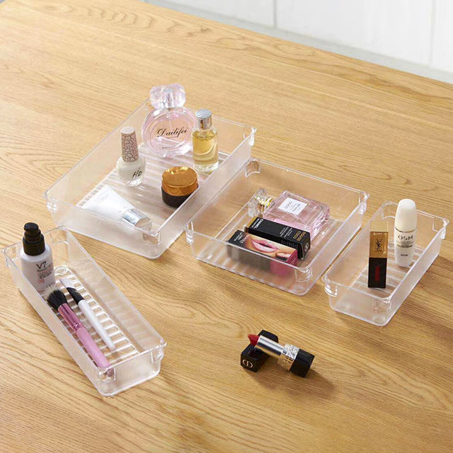 Desk clear Kitchen Drawer Divider cosmetic organizer storage box with dividers and drawers box