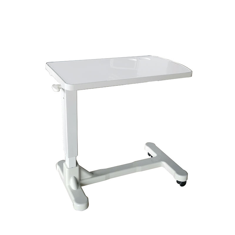 Painted Bedside Table, Overbed Table For Hospital