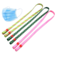 Sublimation face-mask strap facemask lanyard with plastic holder