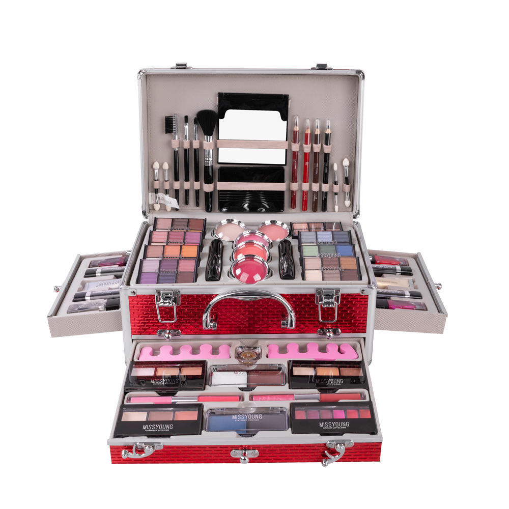 New type stocked customized cosmetic accessories all in one makeup kit