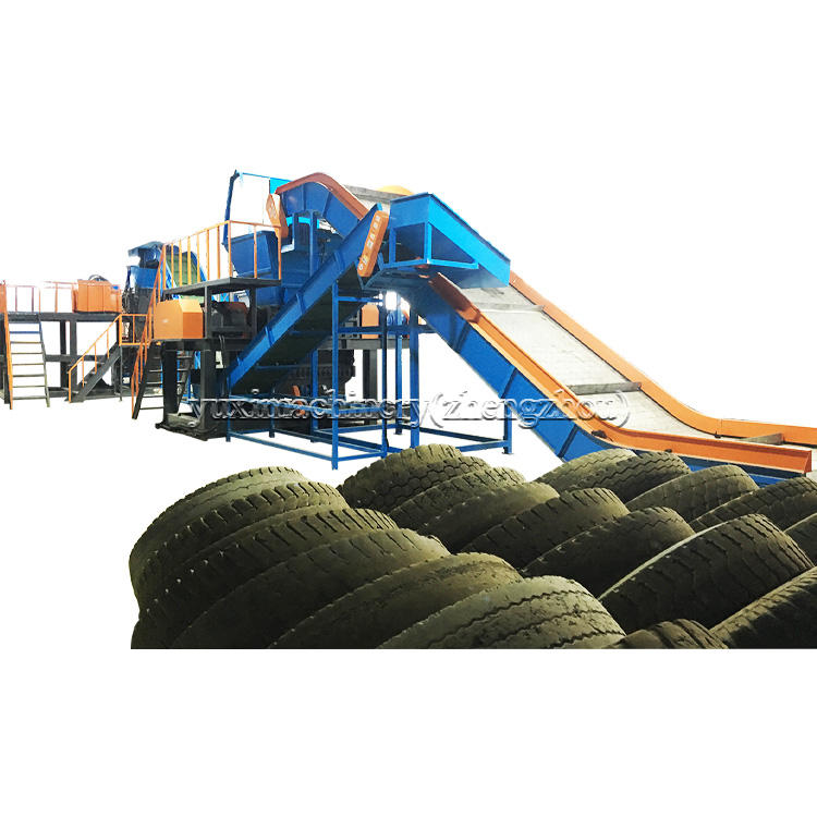 Waste Tire Recycling Production Line/Recycling Waste Tyre To Rubber Crumb/Waste Tyre Recycling
