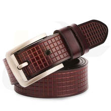 Top Strong High Quality Pure Real Leather Buckle Belt for Men Factory Direct Sales High Quality Genuine Leather Belt