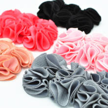 Fashion ladies shoes accessories ornament handmade cloth flowers for women sandal shoe adornment materials for woman shoes