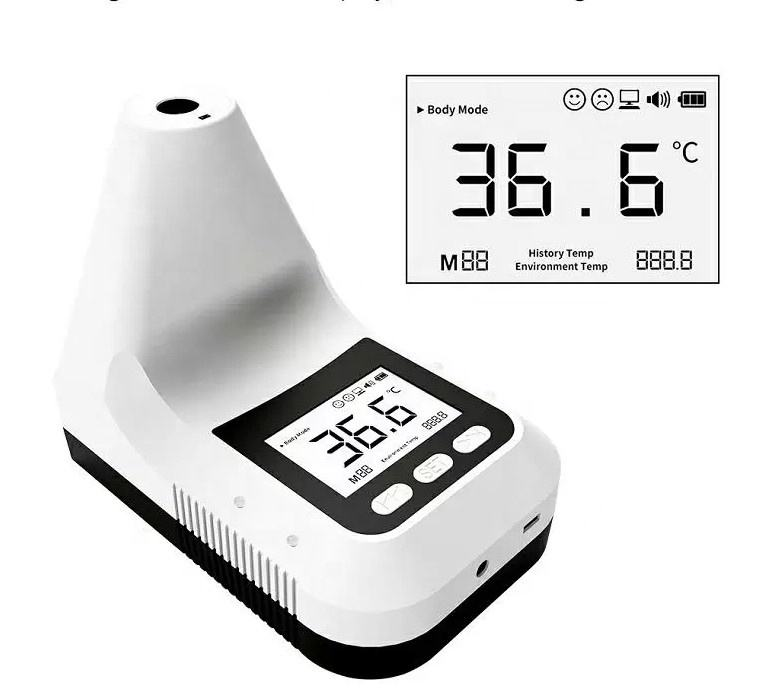 quickly detect thermometer digital LCD screen temperature K3 pro with USB charging