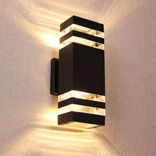Modern exterior Garden Porch sconce lighting 20W LED Outdoor Wall Pack lamp IP65 Waterproof Wall Light