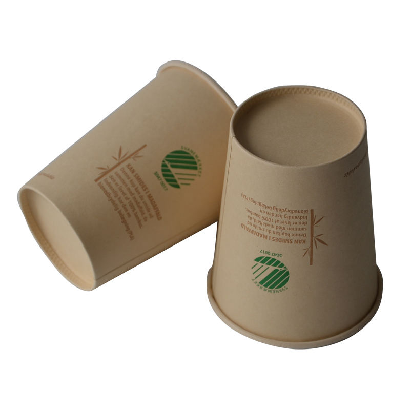 8oz Food Grade Compostable Single Wall PLA Coated Custom Espresso Paper Biodegradable Bamboo Fiber Cup