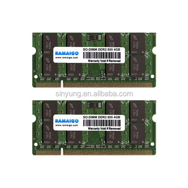 Sodimm <span class=keywords><strong>DDR2</strong></span> mit niedriger Dichte 533 667 800 MHz 4GB Speicher-RAM