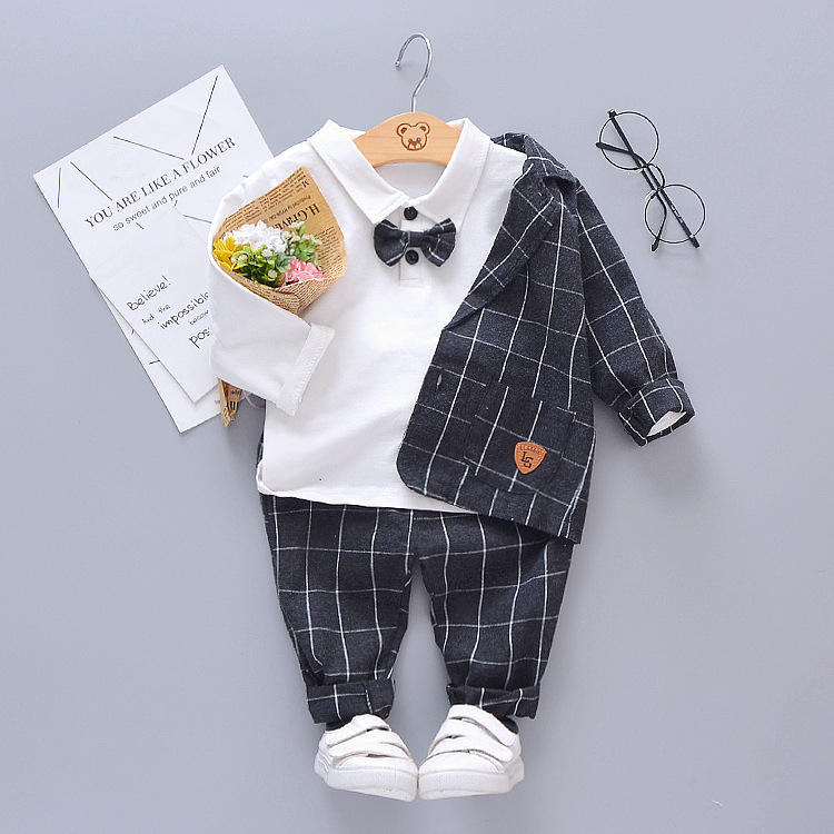 New Design Boutique 3Pcs Baby Boys' Clothing Sets Kids Boys Formal Suits