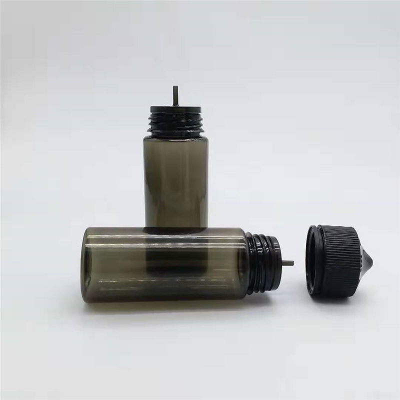 UK / USA market 120ml clear black plastic e juice e liquid dropper bottle PET squeeze plastic dropper bottles
